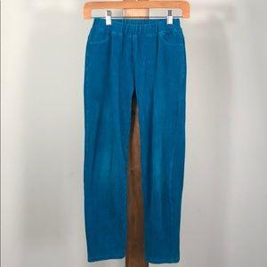 Hanna Anderson turqoise curderoy legging pants